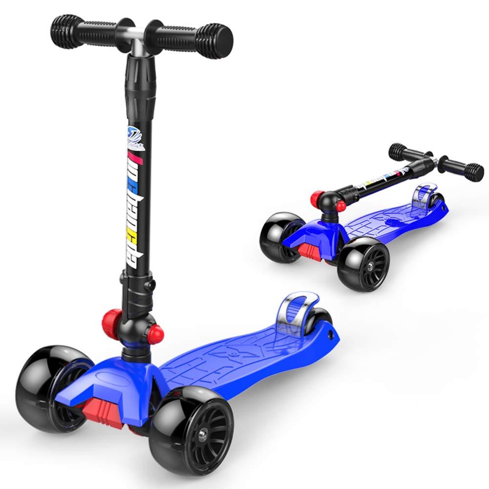 K  JiaQi Kick Scooter pour Les Enfants De 3 à 12 Ans,Patinette Pliable,Réglable en Hauteur Extra grand Pont Idéal pour Les Enfants Filles Ou Garçons
