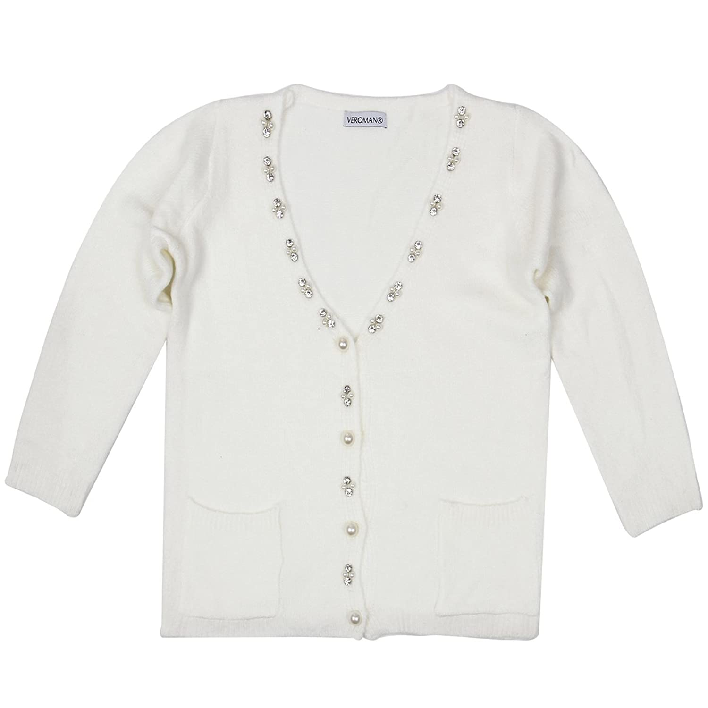 Veroman Women's Slim Fit Long Sleeve Knit Cardigan Sweater