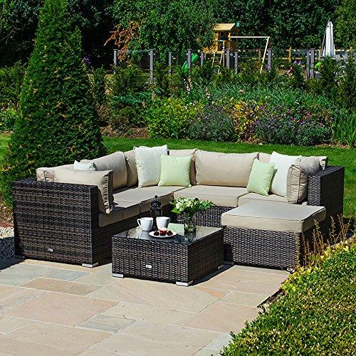 Rattan Garden Furniture Corner Sofa Sets