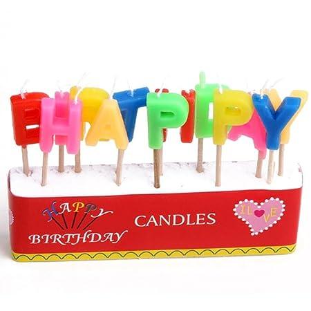 Velas de cumpleaños feliz cumpleaños Inglés Cartas Sin Humo ...