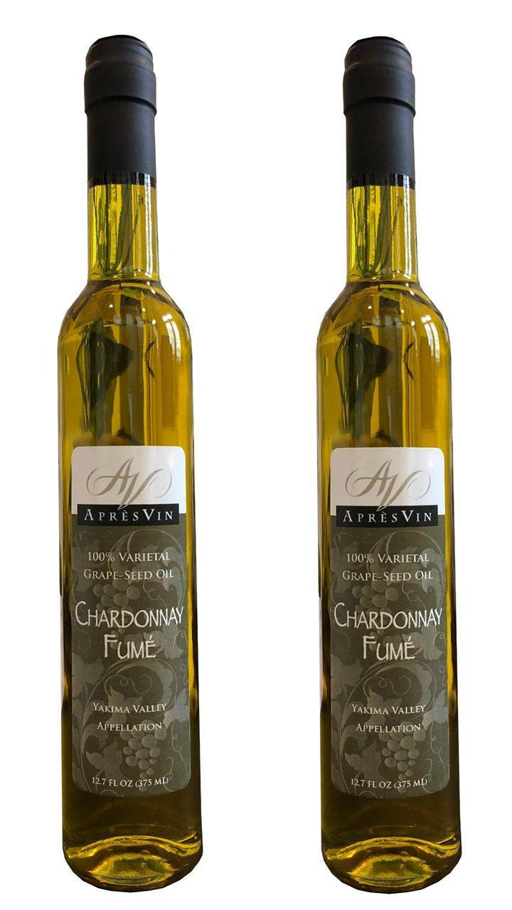 Apres Vin Chardonnay Fumé Grape Seed Oil - 375ml - 2 Pack by Apres Vin (Image #2)