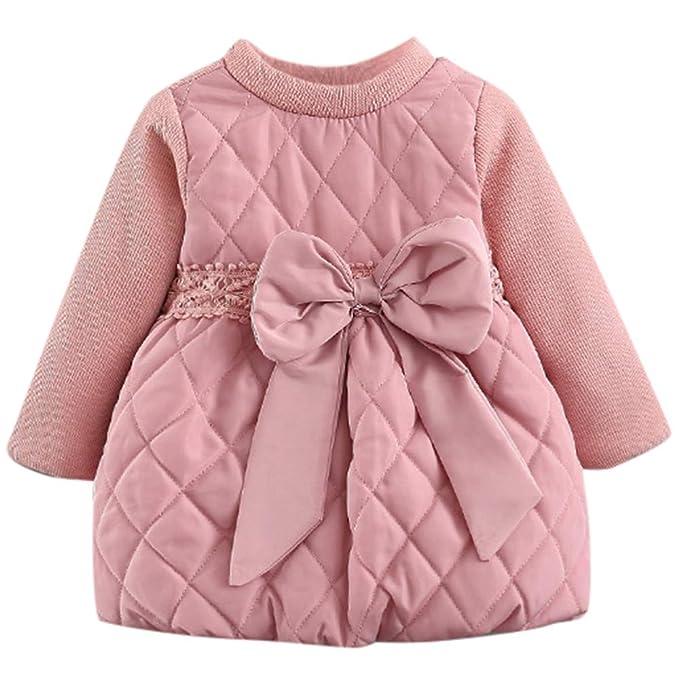 5734b26e3 Mitlfuny Invierno Otoño Caliente Princesa Vestido Bebé Niñas ...
