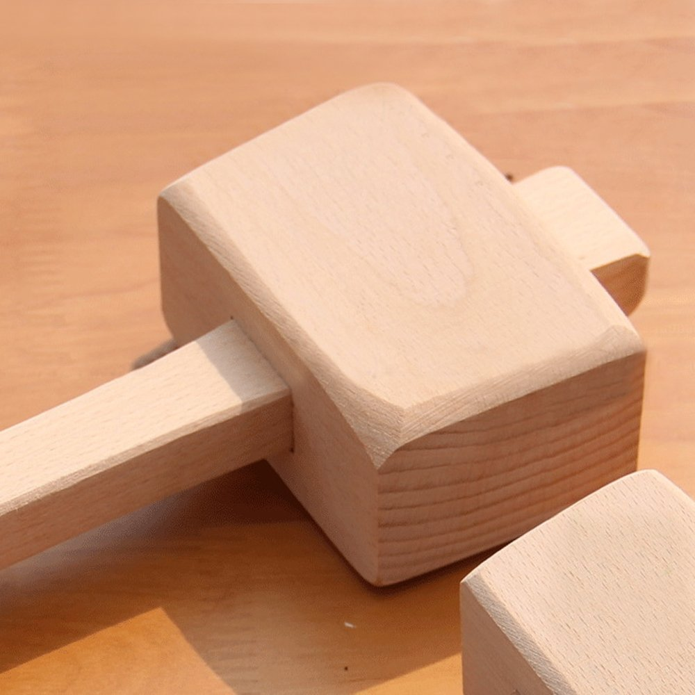 Wooden Mallet -Beechwood Woodworking Mallet with 4⅓ in Bora 1.9inx2.7in striking face,for Solid,Damage-Free Striking. by AdongTop (Image #5)
