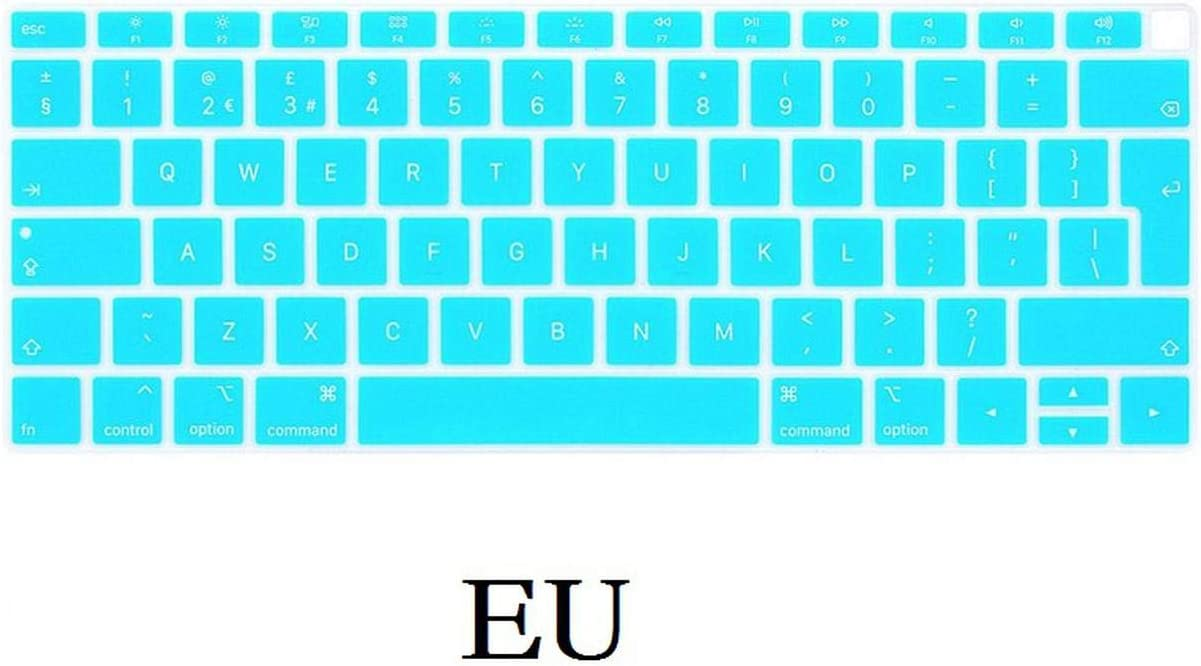 EU Us for MacBook Air 13 Keyboard Cover 2018 Silicon for A1932 English for MacBook Air 13 2018 A1932 Keyboard Film Skin-Us Red