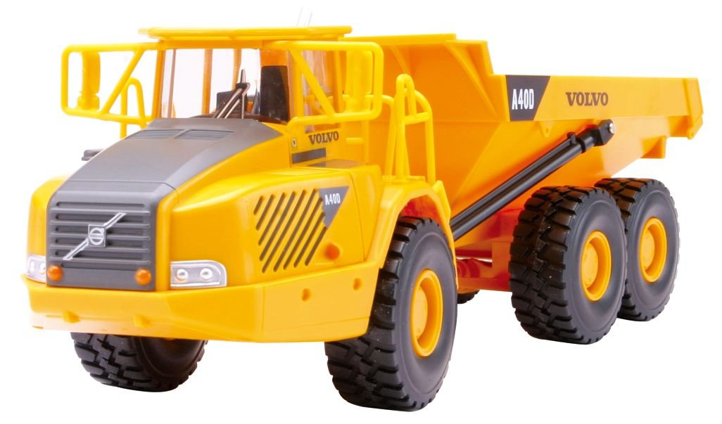 NEW RAY R/C RADIO CONTROL 1:32 VOLVO A40D DUMP TRUCK W/SOUNDS & LIGHTS