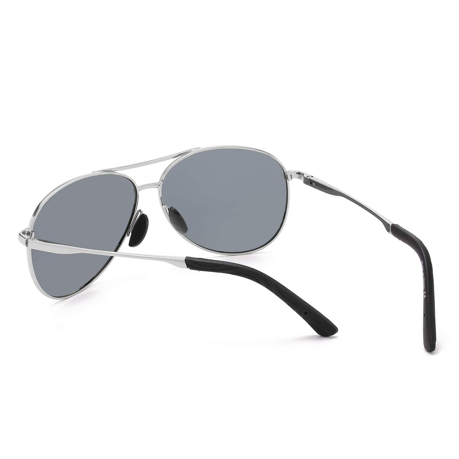 98825e9a65b Polarized Aviator Sunglasses for Men and Women-100 UV Protection Mirrored  Lens -Metal Frame with Spring ...