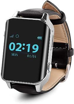 Smartwatch para el anciano SOS impermeable GPS reloj inteligente ...