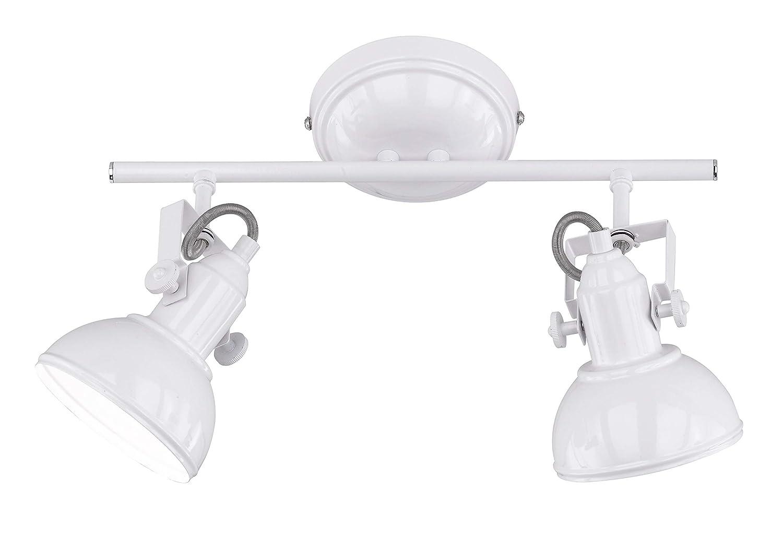 Reality Gina 2 2 2 Spot Focos y lámparas de Pinza E14, Blanco, 2 Luces 9846b6