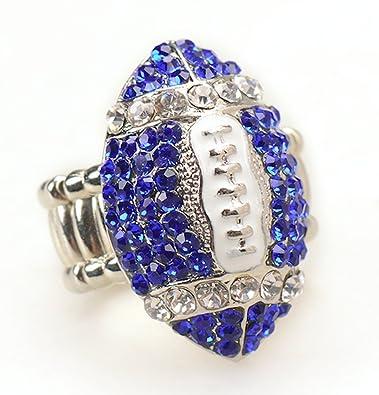 ef8f7776e05ed7 Amazon.com  Dallas Cowboys Fan Jewelry Women NFL White Silver   Blue ...