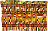 Fair Trade Kenya African Ghana Kente Cloth, 61 '' Across Approximately, #7775