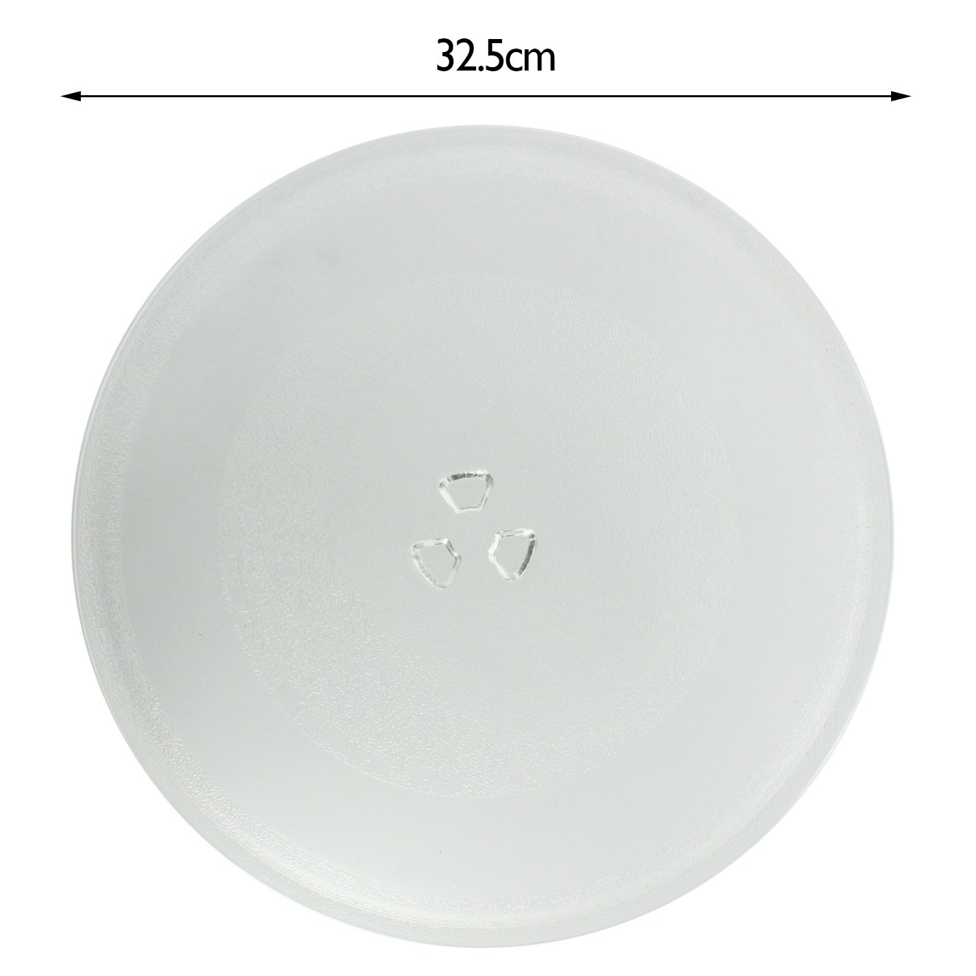 SPARES2GO Glass Turntable Plate Dish (325mm) for Delonghi Microwave Oven