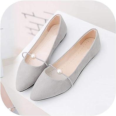 Women's Solid Color Suede Flat Heel