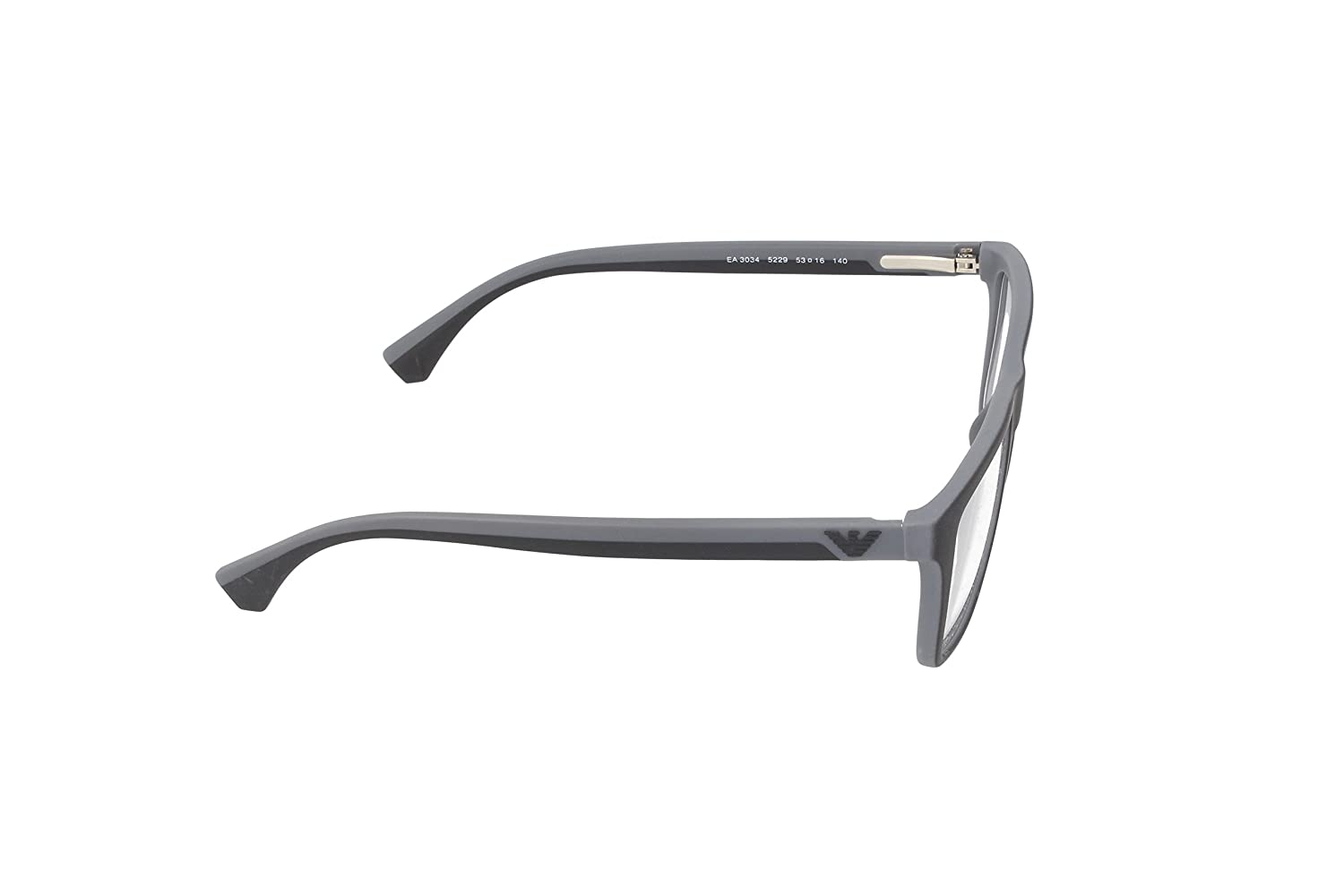 773cc1d6a17 Amazon.com  Emporio Armani EA 3034 Men s Eyeglasses Black Rubber Grey 53   Clothing