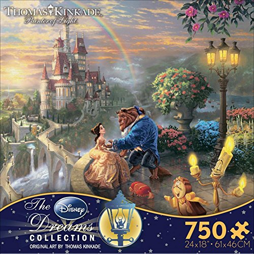 Thomas Kinkade Disney Dreams - Beauty and the Beast 750 Piece Jigsaw Puzzle 24 x 18in