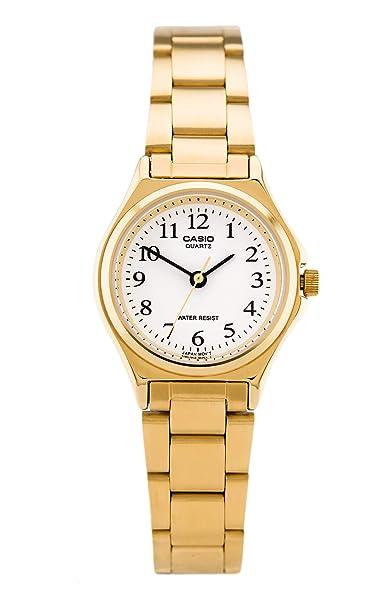 Casio LTP-1130N-7B - Reloj Analógico para Señoras, Banda de Acero Inoxidable, Dorado: Casio: Amazon.es: Relojes