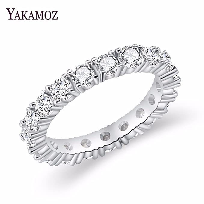 Amazon.com: Wedding Ring for Women - Proposal Ring - Luxury Brand Jewelry White Color - Inlay Cubic Zirconia Unique Shaped Ring for Women - Gorgeous ...
