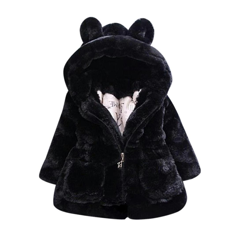 Beautytop Cappotto bambina invernale Autunno Giacca Mantello Bambini Manica Lunga con cappuccio Abbigliamento esterno Cappotti Top