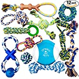 Otterly Pets Puppy Dog Pet Rope Toys - Small to Large Dogs (12-Pack)
