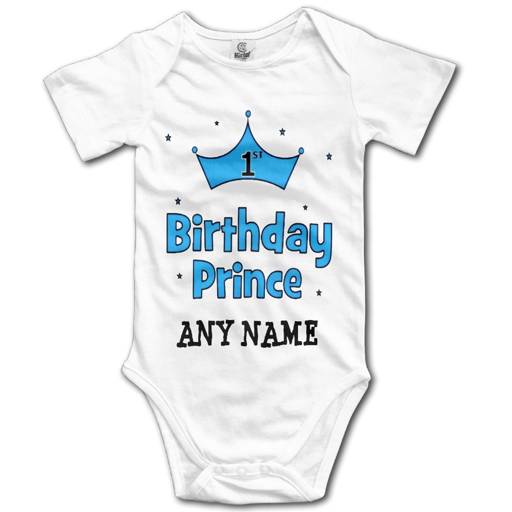 Organic Baby Onesies Unisex Bodysuits Baby 1st Birthday Prince
