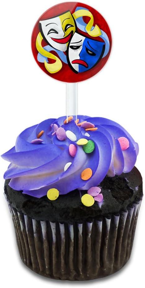 6 plástico Piratas Pastel//Cupcake Topper Decoración