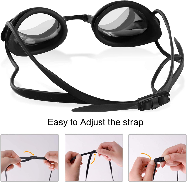 antiappannamento protezione UV regolabile occhiali da nuoto per adulti occhialini da nuoto per uomo e donna occhiali da nuoto Occhialini da nuoto unisex