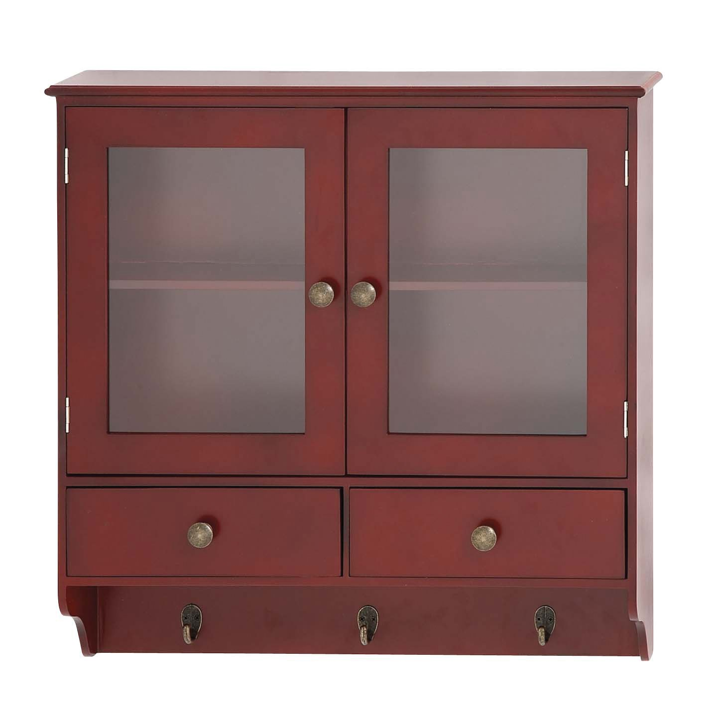 Benzara The Bright Wood Wall Cabinet with Hook 62645
