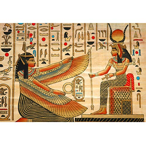 Yeele 5x3ft Old Egypt Mural Backdrop for Photography Ancient Egyptian Papyrus Fresco Wall Painting Background Antique Hieroglyphs Photo Booth Shoot Vinyl Studio Props ()