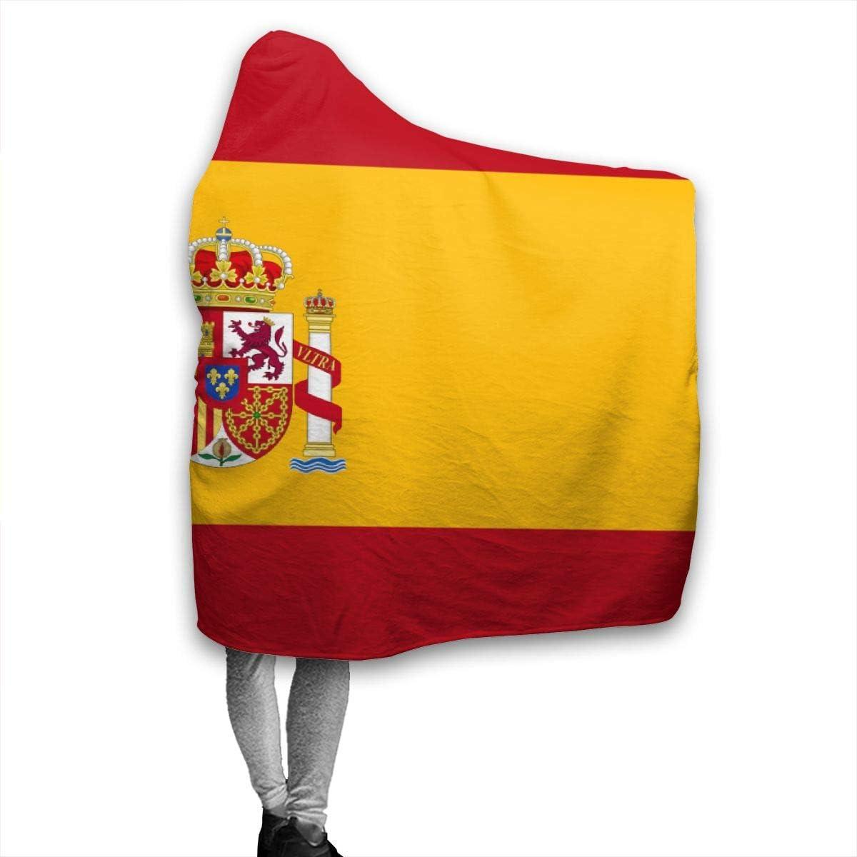 remmber me Bandera de España Manta de Tiro cálido de 80x60 Pulgadas Forro Polar de Franela Ultra Suave Todas Las Estaciones Sala de Estar Liviana Dormitorio para niños Adultos Padres y Abuelos: