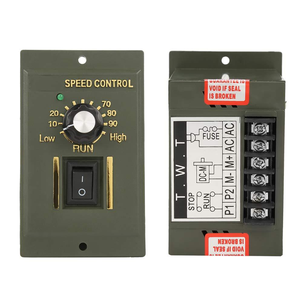 120W DC Adjustable Motor Speed Controller AC220V 50//60Hz Speed Controller Permanent Magnet Motor Electric Speed Regulator AC Output 0~180V