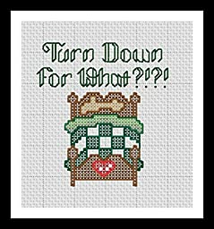 Counted Cross Stitch Kit. Turn down for what?!?!