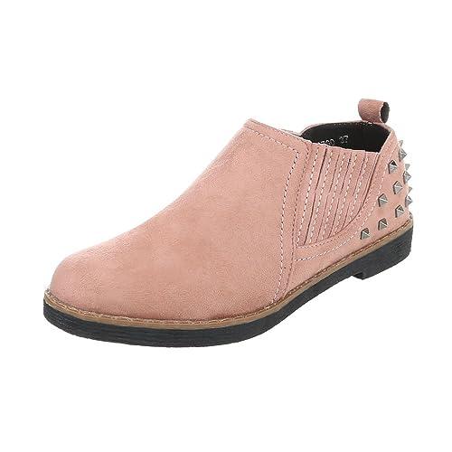 Zapatos para mujer Mocasines Tacón ancho Slipper Rosa Tamaño 40: Amazon.es: Zapatos y complementos