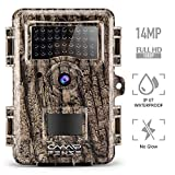CampFENSE Hunting Trail Camera No Glow, IP67 Waterproof, 14MP 1080P 2.4&#8243; LCD, Trigger Time<0.3s, 940 NM IR Night Vision Rustproof for Hunters