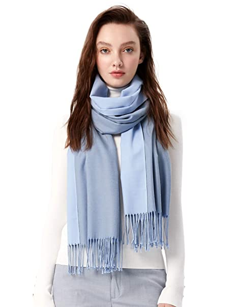 MaaMgci Womens Mens Two Tone Scarf Cashmere Feel Pashmina Shawls Wraps  Blanket Scarf Winter Stole 469359321