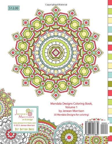 Mandala Design Coloring Book Volume 1 Jenean Morrison Adult Books Amazoncouk 9780615913650