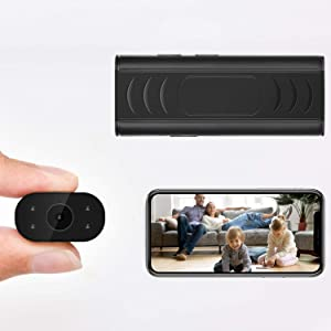 Mini Hidden Camera, Wireless WiFi Camera, 1080P Portable Nanny Cam with Night Vision and Motion Detection, WiFi Camera with Phone APP, Security Camera with Remote View for Home Office Indoor Outdoor