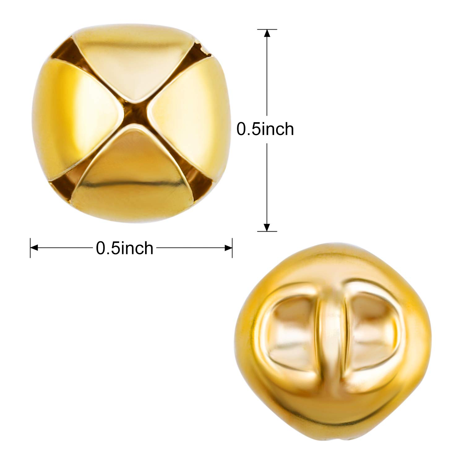 Craft Bells DIY Bells for Wreath Holiday Home and Christmas Decoration Jingle Bells Gold, 200 Pieces