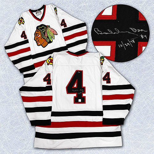 Bobby Orr Chicago Blackhawks Autographed & Dated Last Game Jersey #/144 - Signed Hockey Jerseys ()