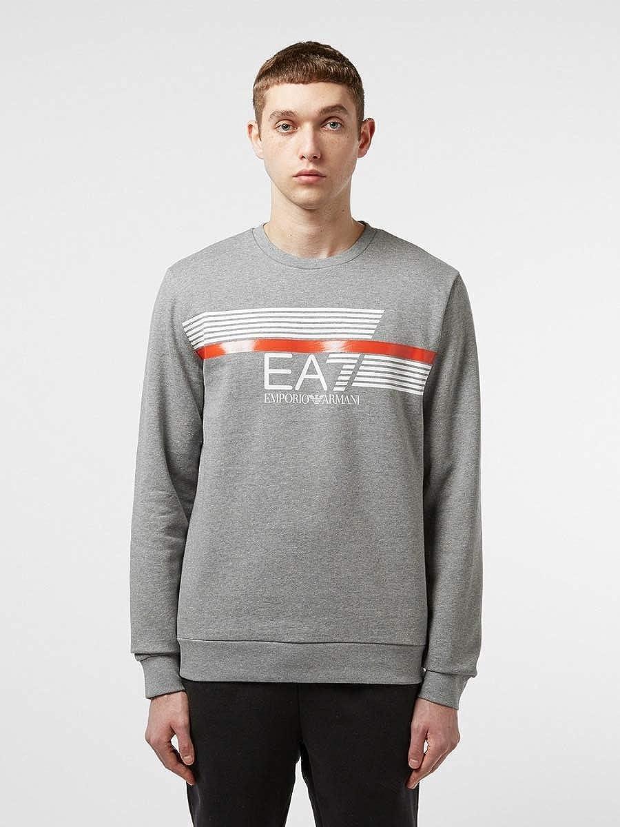 Grey EA7 Mens Graphic Sweatshirt