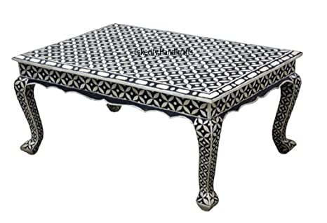 Superb Amazon Com Bone Inlay Black Star Pattern Coffee Table Dailytribune Chair Design For Home Dailytribuneorg
