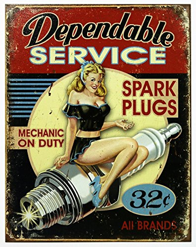 Dependable Service Tin Sign 13 x 16in -