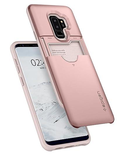 sports shoes ffc24 7c4d0 Spigen Slim Armor CS Designed for Samsung Galaxy S9 Plus Case (2018) - Rose  Gold