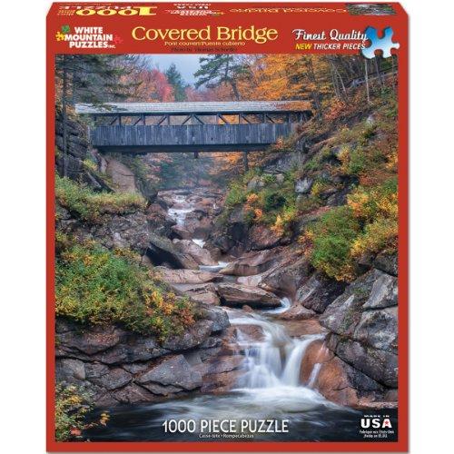White Mountain Puzzles Covered Bridges - 1000 Piece Jigsaw P