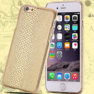 Mobile Phone Accessories Lizard Grain Leather Cover For iPhone 6 Plus 5.5'' Protective Shell Case For Apple iphone 6 4.7'' --- Color:silver I 6 Plus