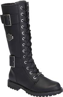 88f9ad431daddd Harley-Davidson Women s Belhaven Knee-Hi Black or Brown Leather Boots.  D87082