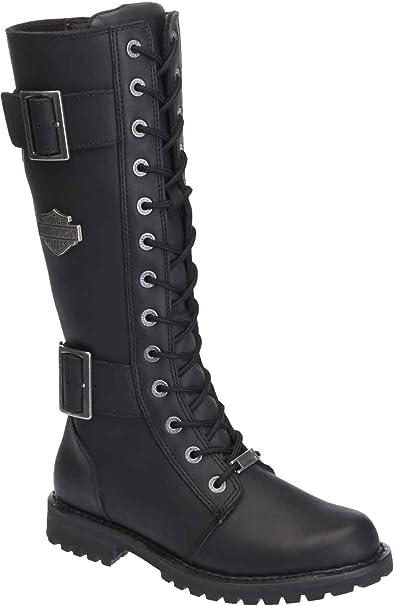 4b4f3896f1b Harley-Davidson Women's Belhaven Knee-Hi Black or Brown Leather Boots.  D87082