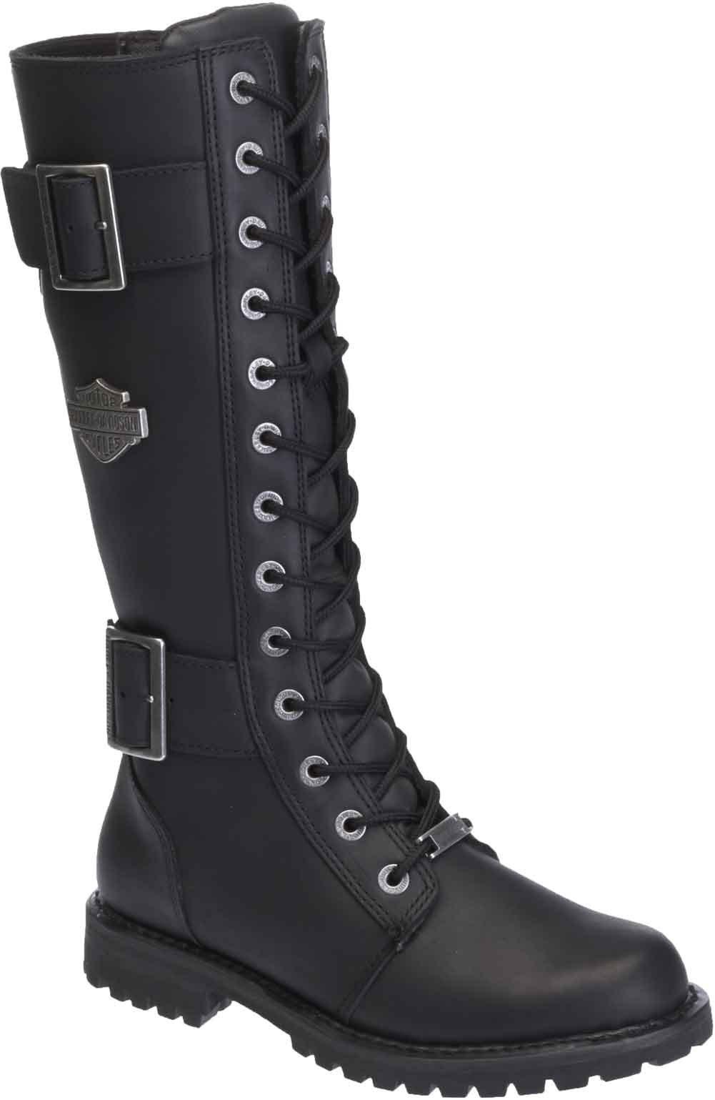 Harley-Davidson Women's Belhaven Knee-High Motorcycle Boots. D87082 (Black 11)