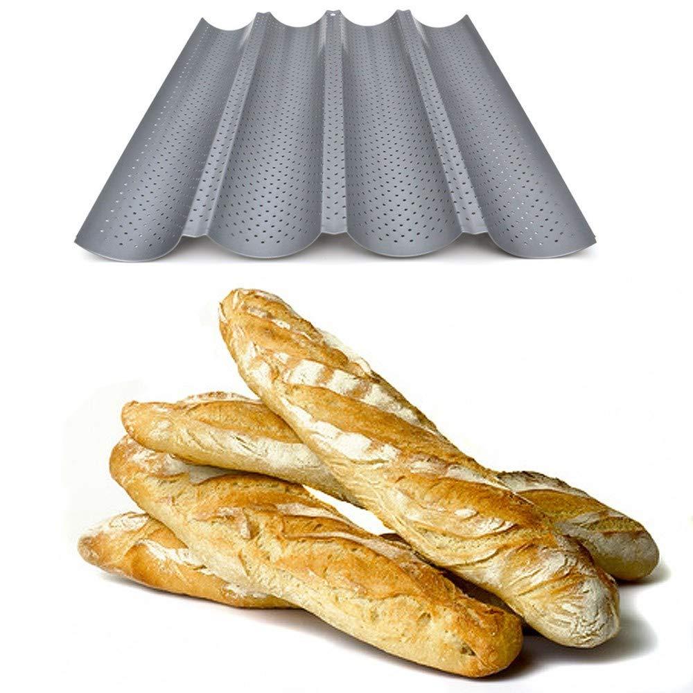 R/éversible pour Biscuits et tuiles aux amandes !!!! Plaque /à Pain perfor/ée eBook Recettes Plaque de Cuisson Moule pour 2 Baguettes Anti-adh/ésif