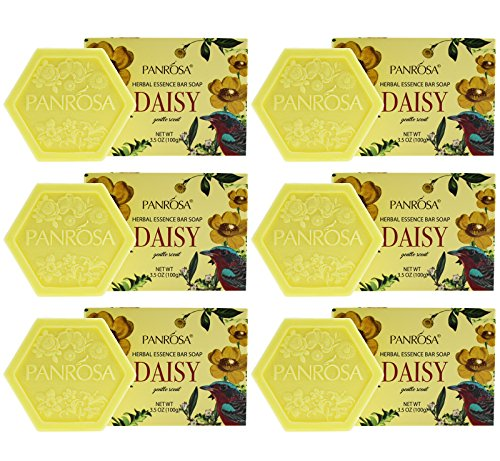 - Panrosa 3.5 OZ Herbal Essence/Daisy Extract Bar Soap For Body and Face. Pack of 6, Moisturizing Soap Bar For Men and Women. Made In USA. (Daisy, Pack of 6)