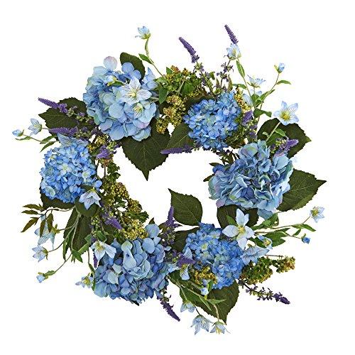 Nearly Natural Hydrangea Wreath, 24