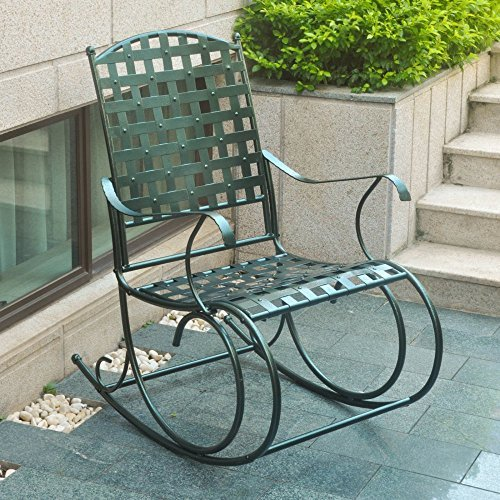 International Caravan 818522 Porch Rocker, Verdigris Finish